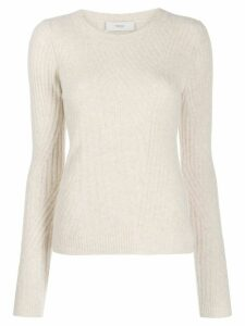 Pringle of Scotland fitted travelling rib jumper - NEUTRALS