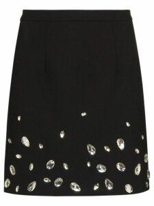 Christopher Kane crystal-embellished mini skirt - Black