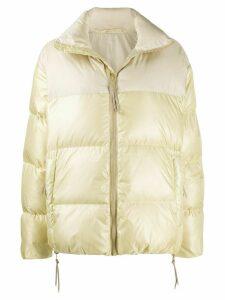 Tanaka zipped puffer jacket - NEUTRALS