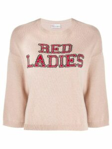 Red Valentino Red Ladies intarsia jumper - PINK