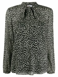 Red Valentino animal print blouse - Black