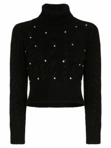 Rosie Assoulin cable-knit turtleneck jumper - Black
