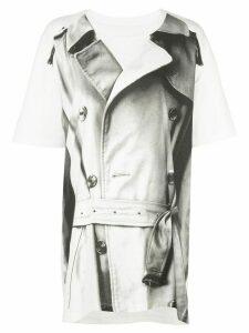 Maison Margiela trench coat print T-shirt - White
