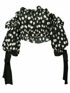 Carolina Herrera strapless cropped top - Black