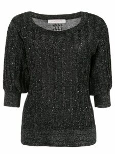 Carolina Herrera metallic knitted top - Black