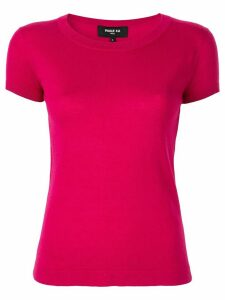 Paule Ka short-sleeved knitted top - PINK