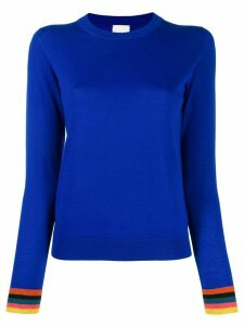 Paul Smith multicoloured cuff jumper - Blue