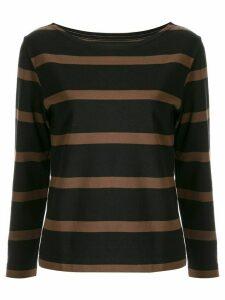 Margaret Howell striped long sleeved top - Brown