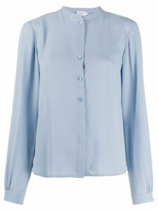 Filippa-K Adele stand collar blouse - Blue