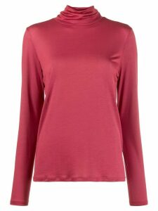 Filippa-K Tencel roll neck top - PINK