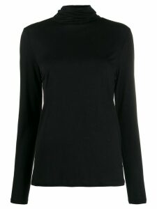 Filippa-K Tencel roll neck sweatshirt - Black