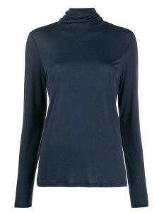 Filippa-K Tencel roll neck top - Blue