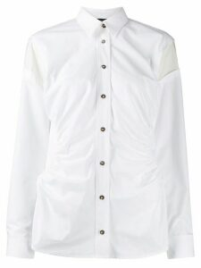 Cédric Charlier gathered sides shirt - White