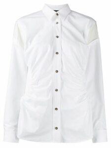 Cédric Charlier gathered sides shirt - White