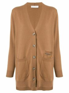 Fabiana Filippi long buttoned cardigan - Brown