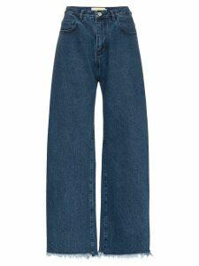 Marques'Almeida raw-hem boyfriend jeans - Blue