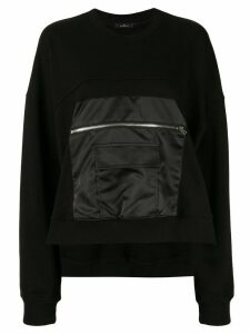 J Koo zipped-patch sweatshirt - Black
