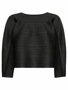Pleats Please Issey Miyake Bounce boat-neck pleated top - Black