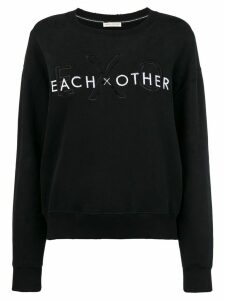 Each X Other front logo loose sweatshirt - Black