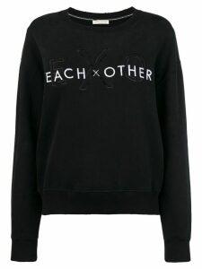 Each X Other front logo loose sweatshirt - Black
