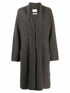 LAUREN MANOOGIAN loose-fit open-front cardigan - Brown