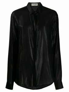 Saint Laurent metallic sheen silk shirt - Black