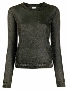 Paul Smith glittered long sleeve top - Black