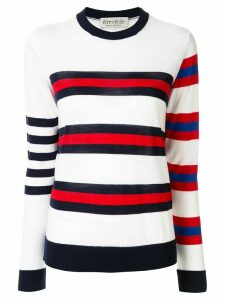 Être Cécile fine knit striped jumper - White