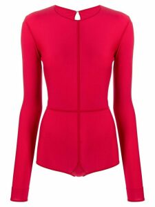 Ann Demeulemeester stitch detail body - Red