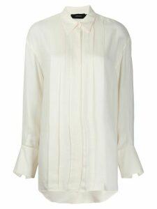Joseph pleated button-down shirt - NEUTRALS