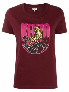 Kenzo tiger logo print T-shirt - Red