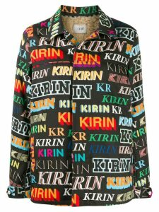 Kirin logo print shirt jacket - Black