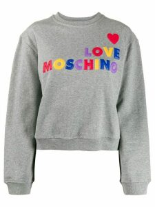 Love Moschino embroidered sweatshirt - Grey