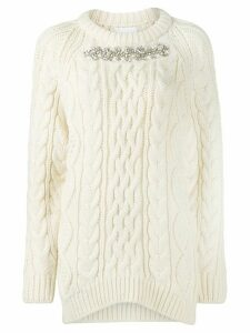 P.A.R.O.S.H. embellished roll neck jumper - White