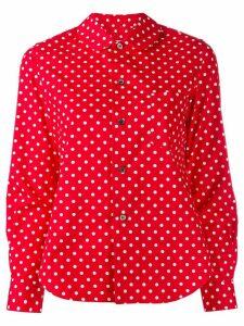Comme Des Garçons Girl polka dot print curved hem shirt - Red