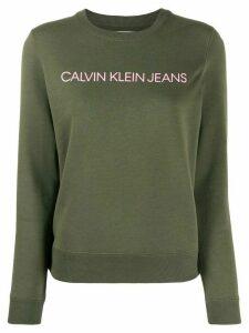 Calvin Klein Jeans logo print sweatshirt - Green