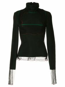 Y/Project contrasting piping detailed jumper - DARK GREEN