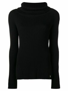 Patrizia Pepe ribbed roll neck jumper - Black