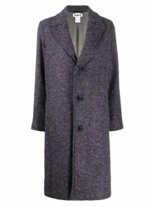 Hope single-breasted chevron coat - PURPLE