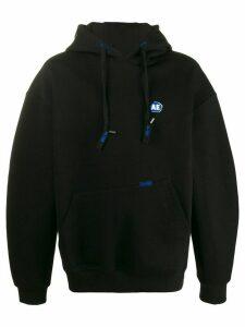 Ader Error oversized logo patch hoodie - Black