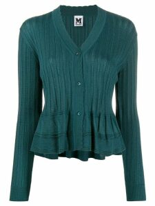 M Missoni peplum hem knit cardigan - Blue