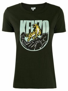 Kenzo Tiger Mountain print T-shirt - Green