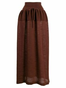 Lemaire knitted maxi skirt - Brown