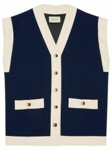 Gucci woven vest - Blue