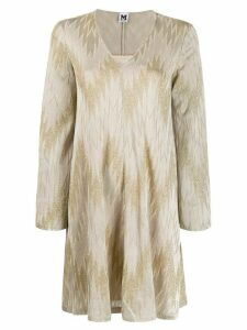 M Missoni zig zag pattern dress - NEUTRALS