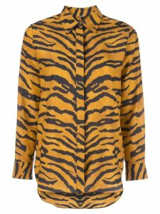 Adam Lippes tiger stripe shirt - Orange