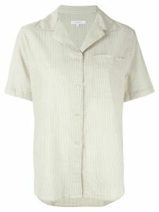 Venroy camp collar striped shirt - Brown