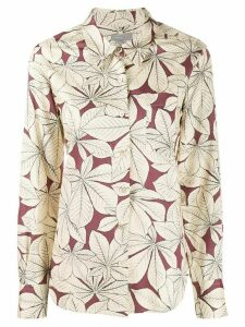Margaret Howell leaf print shirt - Neutrals