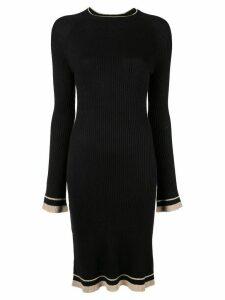Venroy knitted midi dress - Black