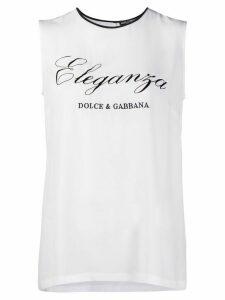 Dolce & Gabbana Eleganza print tank top - White